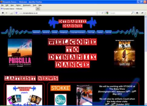 Dynamix Dance Website
